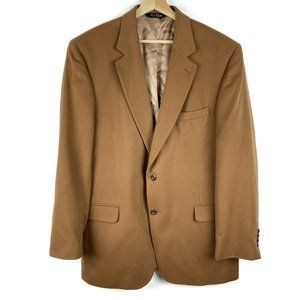 Jos A Bank Gordon 100% Cashmere Tan Sport Coat 44L